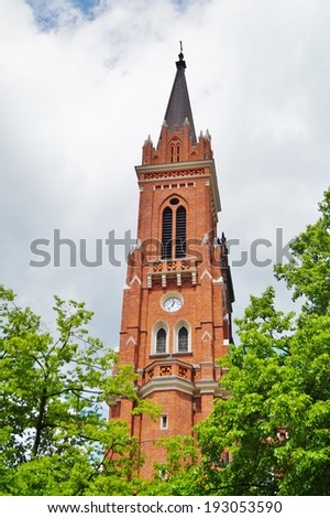 The Neo - Gothic Catholic church in Lodz