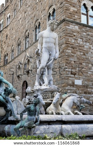 The Neptune fountain in Florence