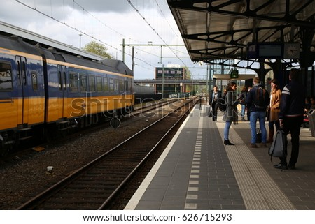 The NETHERLANDS - 13 APR: Meppel Central Station in Meppel, the Netherlands on 13 April 2017