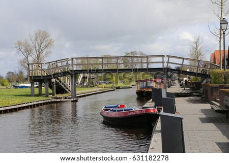 The NETHERLANDS - 13 APR: Water Village in Giethoorn, the Netherlands on 13 April 2017