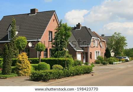 The Netherlands, home gardens - stock photo