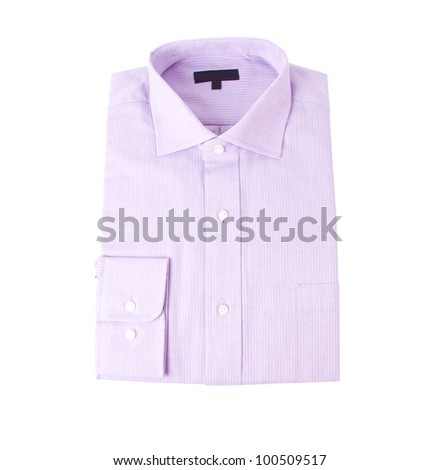 The new blue shirt isolated on white background