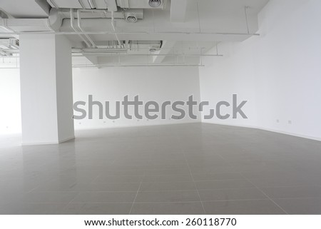 The new bright empty office building interior - stock photo