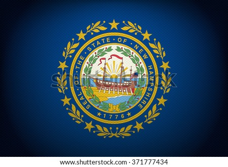 The New Hampshire State Flag  - stock photo
