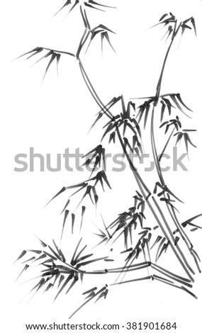 The new Monochrome bamboo - stock photo