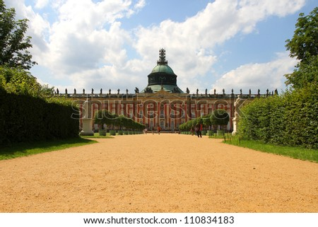 The new Palace (Neues Palais) in the royal Park Sanssouci in Potsdam, Germany.