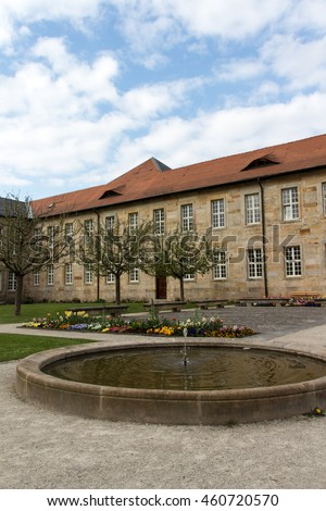 The New Palace with the court garden in Bayreuth, former residence of the Margraves