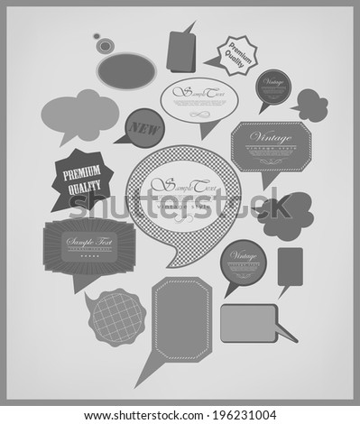 The new retro speech bubbles/signs collection - stock photo