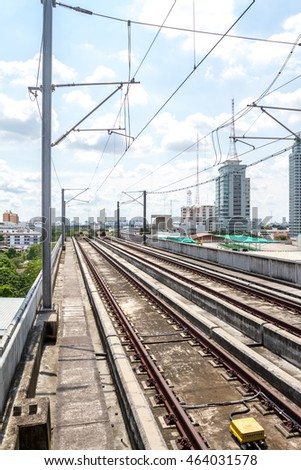 the new skytrain in Bangkok with his terminal