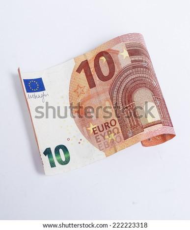 the new ten euro, new ten euro - stock photo