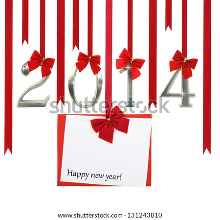 The new year 2014 card - stock photo