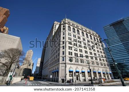 The New York skyscrapers in Manhattan, USA - stock photo