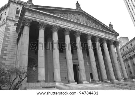 The New York Supreme Court in New York City - stock photo