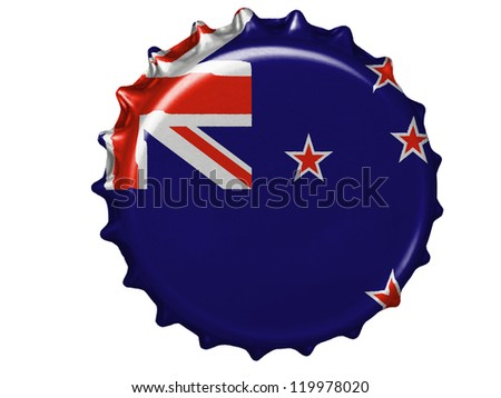 The New Zealand flag painted on  stopper - stock photo