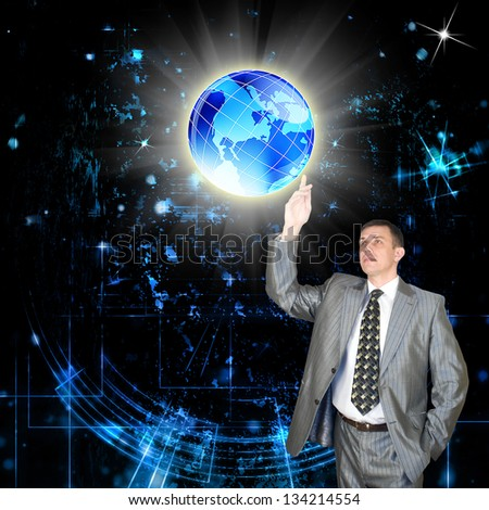 The newest Internet technology.Connection - stock photo