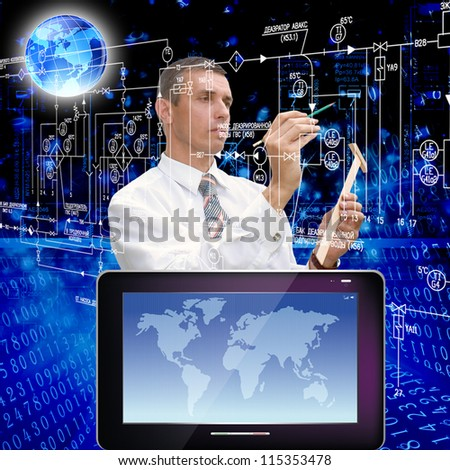The newest telecommunication and the Internet of technologies - stock photo