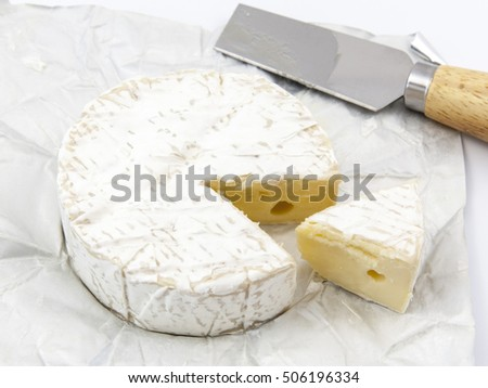 The newly opened brie cheese
