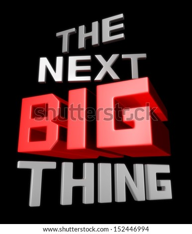 The next big thing coming soon announcement 3d illustration - stock photo
