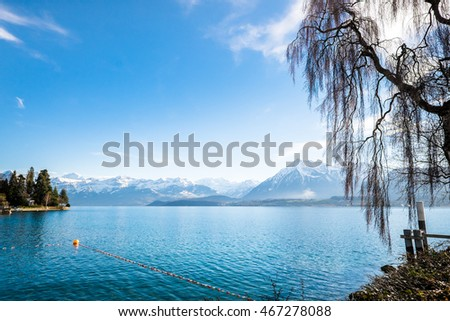 The nice village of Thun in Switzerland