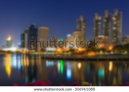 The night city blur