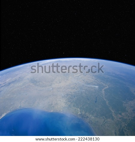 The night sky over Texas. Elements of this image furnished by NASA.  - stock photo