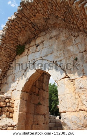 The Nimrod Fortress - stock photo