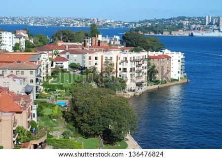 The North shore of Sydney, Australia - stock photo