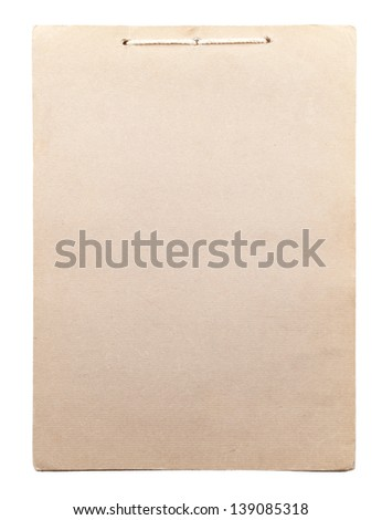 The notebook for records is isolated on a white background