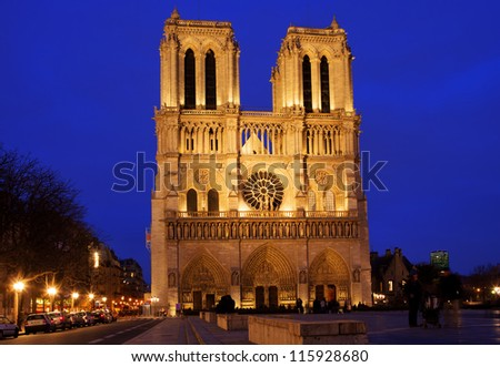 The Notre Dame, Paris - stock photo