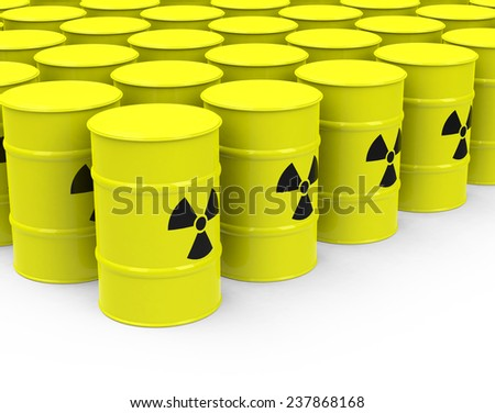 the nuclear waste - stock photo