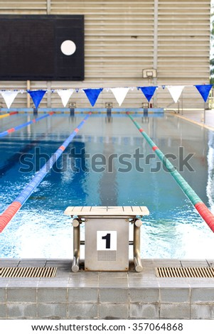 The number 1 diving platform - stock photo