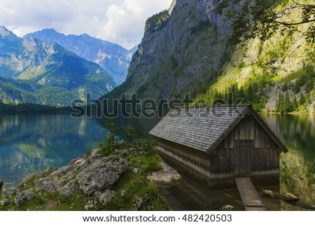 The Obersee, it is located in Berchtesgaden National Park which is in southern Germany.