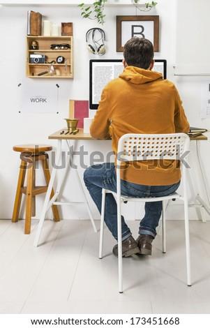 The office of a creative entrepreneur. - stock photo