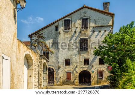 The old armoury in Sauveterre-de-Bearn - stock photo