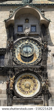 The Old Astronomical Clock in Prague - stock photo