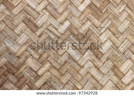 the old bamboo weave texture for background - stock photo