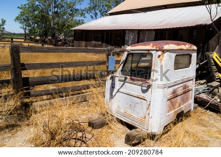 The old barn house in Winchester, California.  - stock photo