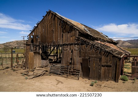 The old barn in the country. - stock photo