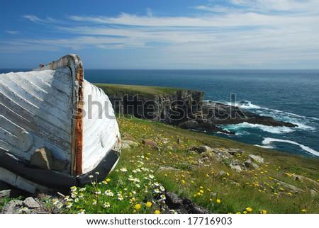 The old boat , Ireland - stock photo