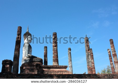 the old Buddha image in Thailand.