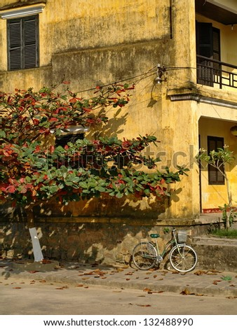 The old building in Hoi an, Vietnam - stock photo