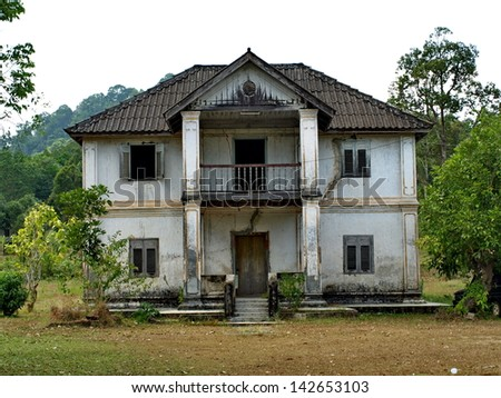The old building in Thailand