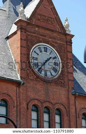 The old Central Railroad terminal in Liberty Park, New Jersey - stock photo
