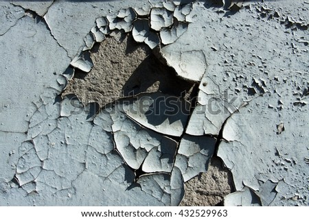 The old cracked paint. Can be used for design, websites, interior, background, backdrop, texture creation, the use of graphic editors and illustration.