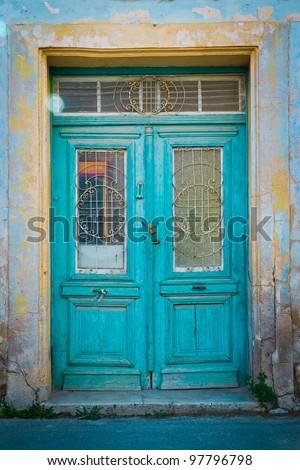 The old door - stock photo