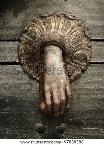 the old doorknocker - stock photo