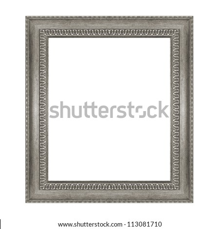 The old frame isolated on the white background - stock photo