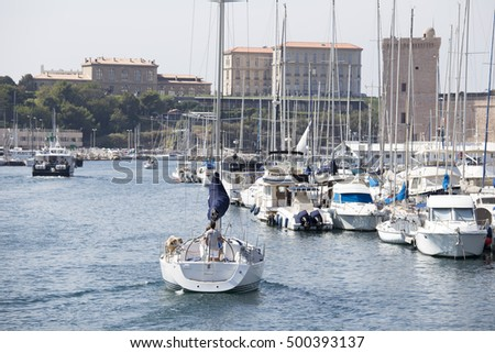 The old harbor Vieux Port in Marseille in France September 23, 2016