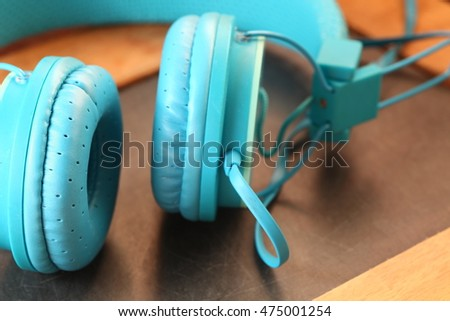 The old headphone represent the sound and audio equipment technology concept related idea.