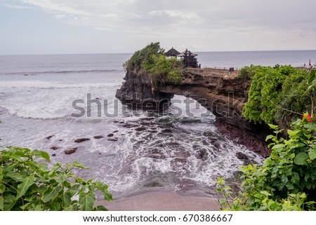 The old Hindu temple Tanah Lot, Bali, Indonesia